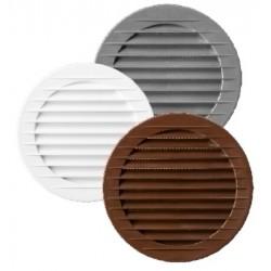 Kratka wentylacyjna okrągła fi 150 biała ROXKRA02-152