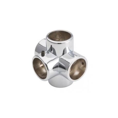 Łącznik pięciokierunkowy - Ø 25 chrom SZAC9870CHR