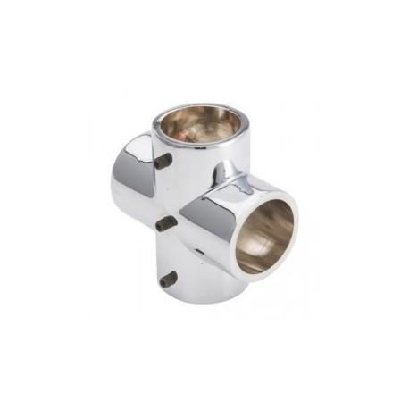Łącznik czterokierunkowy - Ø 32 chrom SZ985ACR