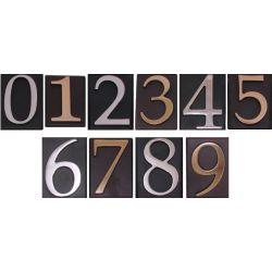 Cyfra samoprzylepna na tabliczce nikiel, mosiądz CYF135.1