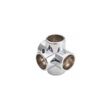 Łącznik pięciokierunkowy - Ø 32 chrom SZ987ACR