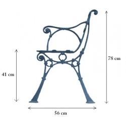 Noga żeliwna do ławki z podłokietnikem RETRO FERNOG21.8
